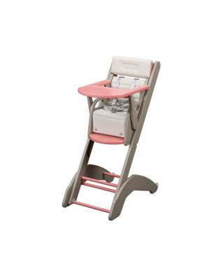 COMBELLE Chaise haute MANON Twenty-one Evo - en Hetre - Gris / Rose