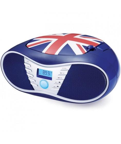 BIGBEN CD58GB Radio CD/USB/MP3 portable - United kingdom - Bleu