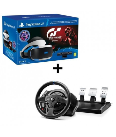 Pack PlayStation VR + Caméra V2 + Gran Turismo Sport  + Volant Thrustmaster T300RS Gran Turismo Edition PS4 - PS3