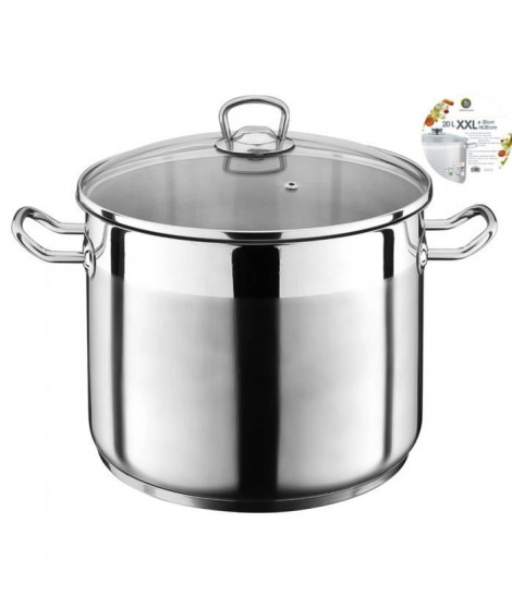 THEKITCHENETTE Marmite inox 3645762 20L XXL 30cm Tous feux dont induction
