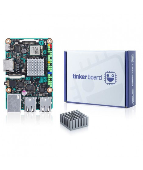 ASUS Carte mere TINKER BOARD - Rockchip RK3288 - Cortex-A17 - Quad-core 1.8GHz - 90MB0QY1-M0EAY0