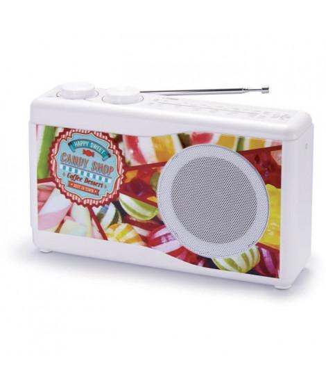BIGBEN TR23CANDY Radio portable - Tuner analogique - Candy Shop