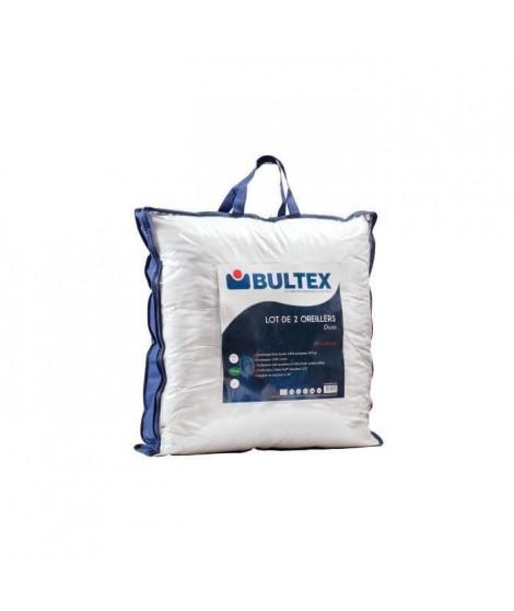BULTEX Lot de 2 oreillers DUO 60x60 cm blanc