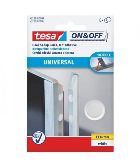 TESA Pastilles auto-agrippantes - Ø 16mm - Blanc - 8 pieces