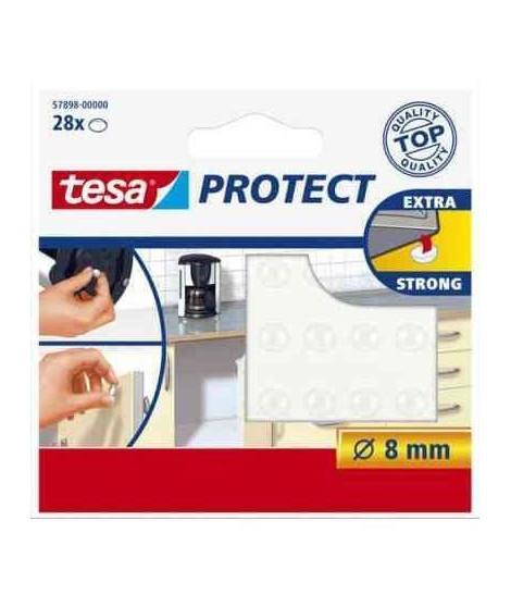 TESA Pastilles antiglisse et antibruit - Ø 8mm - Transparentes