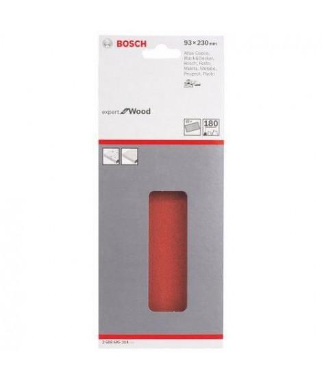 BOSCH Papier abrasif pour ponceuse vibrante avec bande auto-agrippante - 93 x 230mm - Grain 180