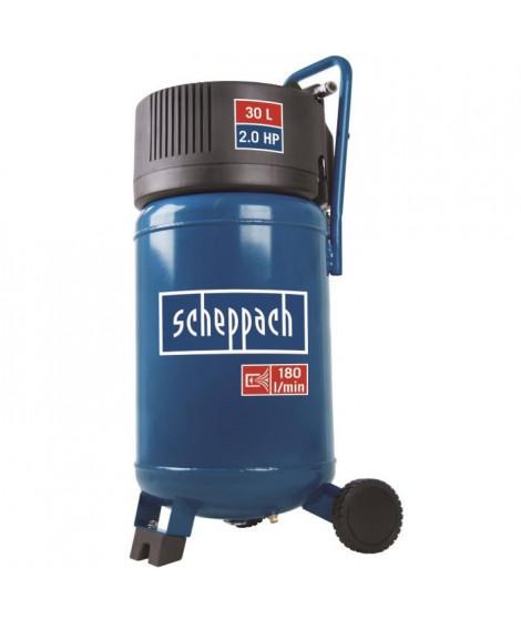 SCHEPPACH Compresseur d'air vertical sans huile 30 L 2CV 10 bars HC30V