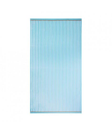 JULES CLARYSSE Drap de plage velours BEACH WAVES Turquoise - 90x170cm