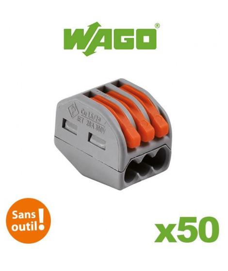 WAGO Pack de 50 Bornes de connexion automatique S222 3 entrées par 50