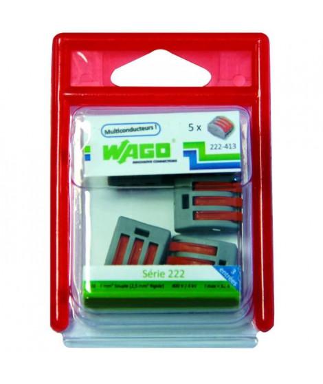 WAGO Blister de 5 bornes 3x2,5mm²