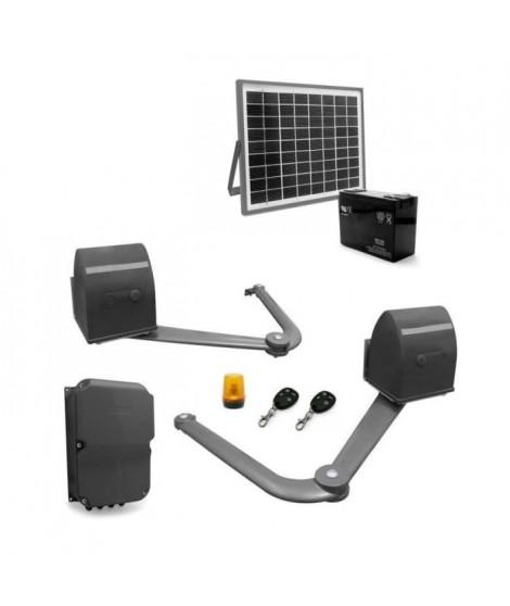 AVIDSEN Kit de motorisation a bras articulés B250 pour portail a 2 battants 5 m/500 kg avec kit solaire 654312