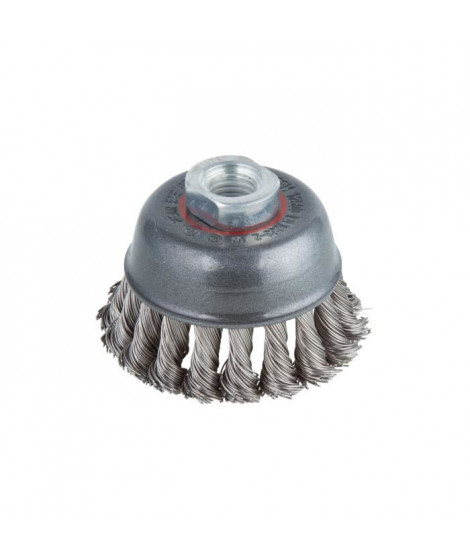 WOLFCRAFT 1 Brosse métalique soucoupe pour métaux -  Ø 75 mm