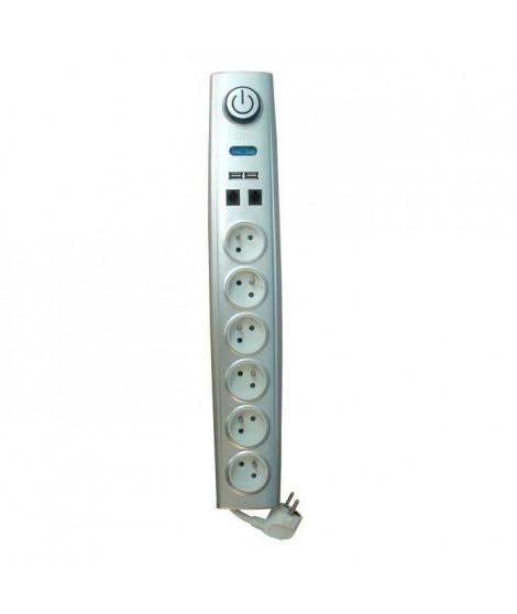 OTIO Bloc multiprise parafoudre 6 prises 16A + interrupteur