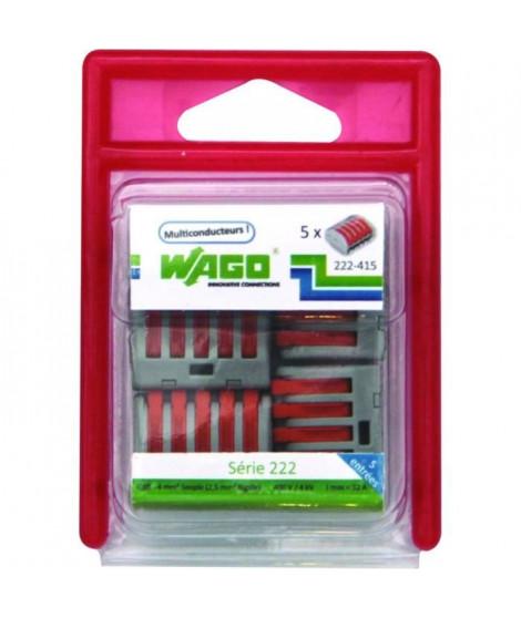 WAGO Blister de 5 bornes 5x2,5mm²