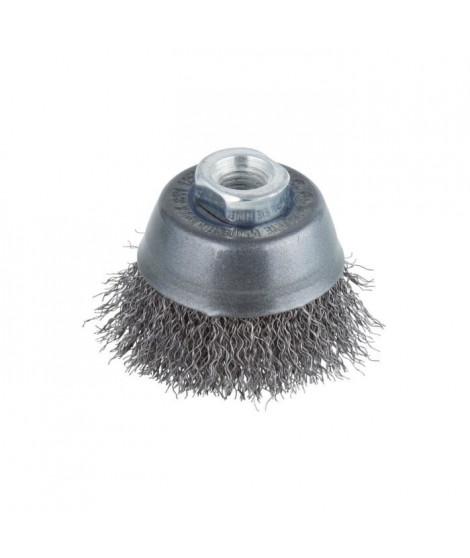 WOLFCRAFT 1 Brosse métalique soucoupe - Ø 70 mm