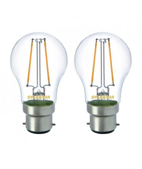 SYLVANIA Lot de 2 ampoules LED RETRO Filament A60 B22 40W