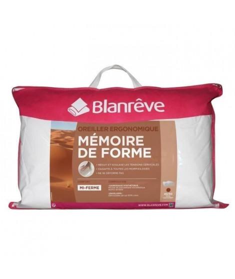 BLANREVE Oreiller Ergo a Mémoire de Forme 40x60