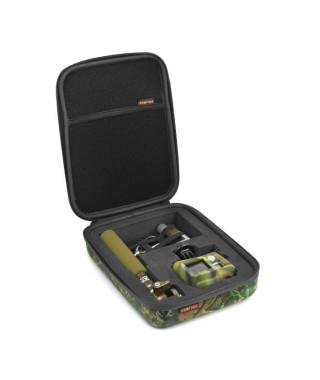XSories - CAPXULE SMALL - Housse de rangement caméra GoPro et accessoires, mousse découpée, filet de rangement, poignée, Camo…