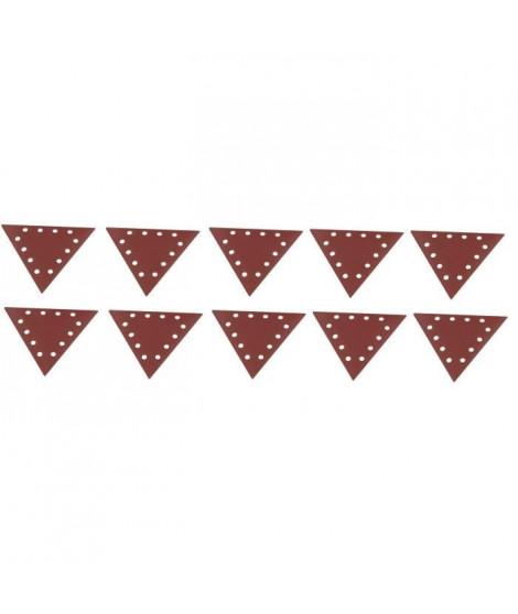SCHEPPACH Lot de 10 triangles de ponçage grain 180 pour ponceuse DS210