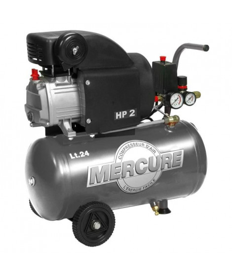 MERCURE Compresseur d'air 24L 2HP