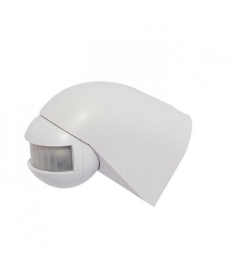 CHACON Détecteur de mouvement 180° orientable sans fil blanc