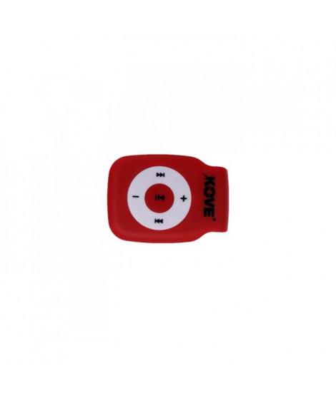 KOVE K117 Lecteur MP3 avec emplacement pour Micro SD - Rouge