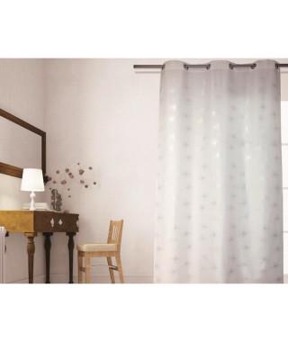 SOLEIL D'OCRE Rideau a oeillets Strass 140x240 cm blanc
