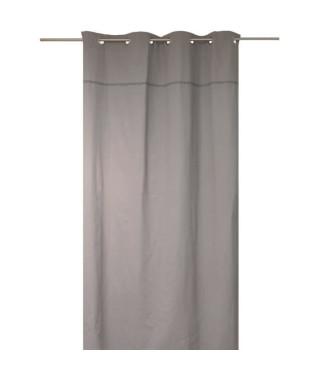 SOLEIL D'OCRE Rideau a oeillets Dentelle 100% coton 140x240 cm gris