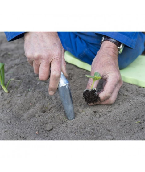 NATURE Plantoir conique en acier galvanisé 29cm - Gris