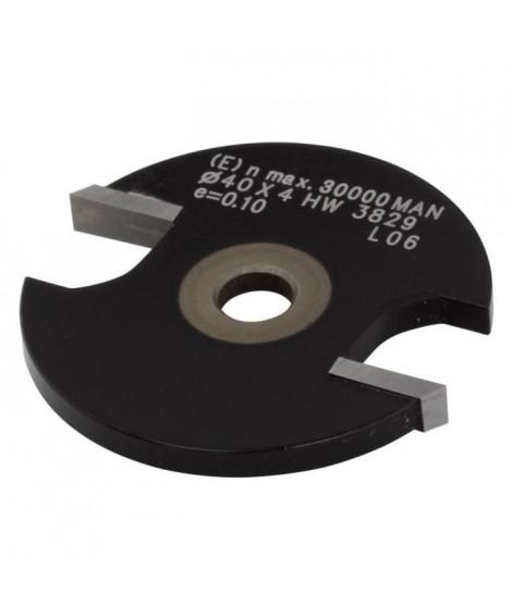 WOLFCRAFT - 1 Fraise a rainurer circulaire en carbure de tungestene - T6mm Ø40x 4mm