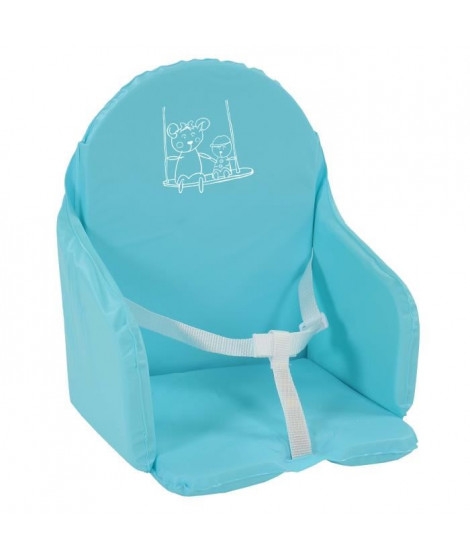 LOOPING Coussin de Chaise avec Sangles Bleu Turquoise