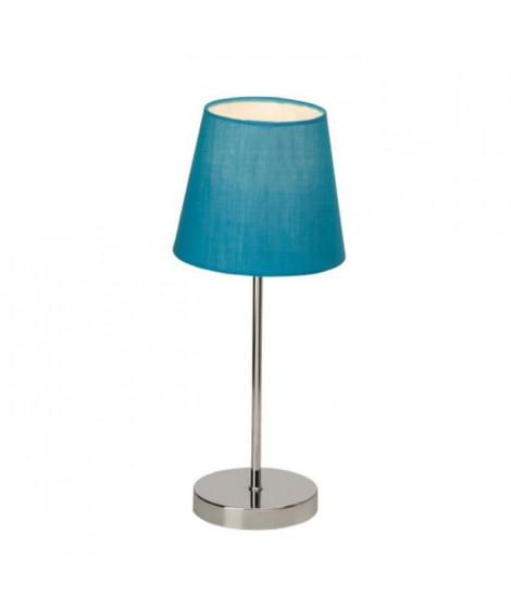 BRILLANT Lampe a poser tactile 40 W chromé et bleu