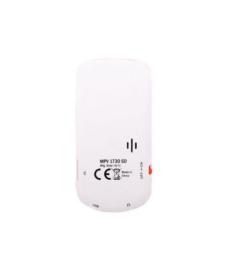 TREVI MPV 1730 SD Lecteur mp3 avec emplacement pour Micro SD - Blanc / Orange