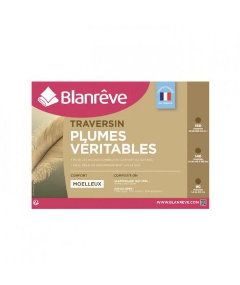 BLANREVE Traversin Plumes 90 cm blanc
