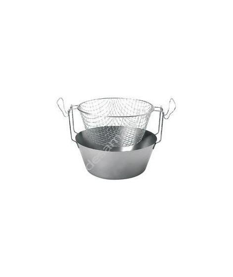 ARTAME Friteuse avec panier en inox Fond thermique 24 cm