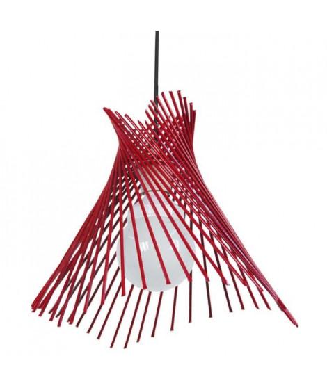 Suspensions + fil métal en cône Mikadô 35 cm 20 W équivalent a 75 W rouge