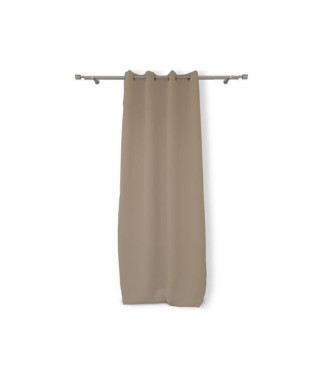 SOLEIL D'OCRE Rideau occultant a oeillets 140x180 cm taupe