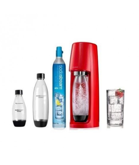 SODASTREAM Méga Pack : Machine a soda Spirit - Rouge