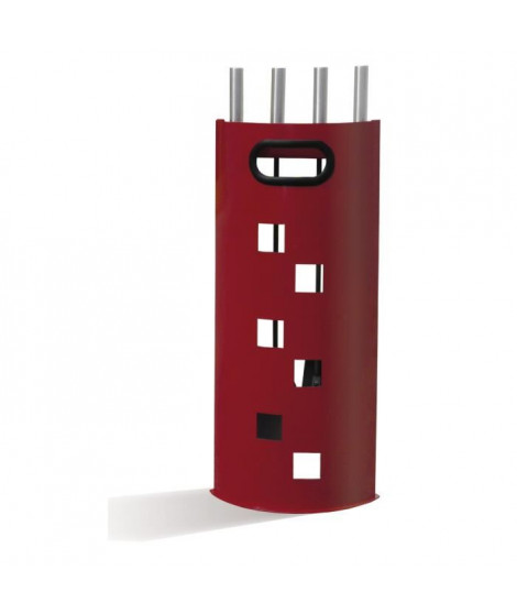 Serviteur Quadro Rouge avec 4 accessoires