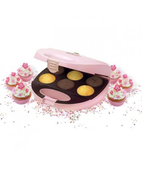 BESTRON DCM8162 Appareil a cupcakes - Jusqu'a 6 en meme temps - Rose Pastel