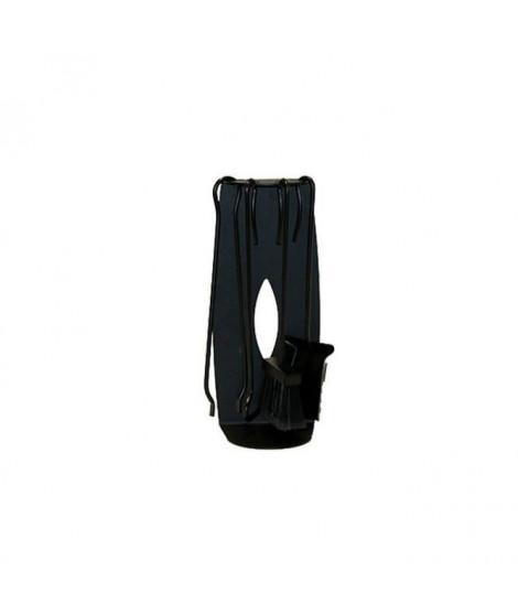 DELTA Serviteur Vasco en acier noir avec 4 accessoires