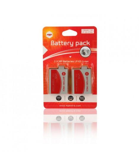 MP EXTRA  RK-S5AK-ZWCL  Pack de 2 batteries LPE5 pour CANON