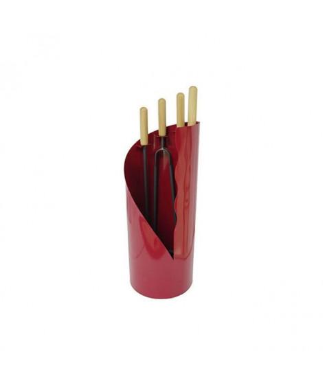 DELTA Serviteur Diva en acier rouge avec 4 accessoires