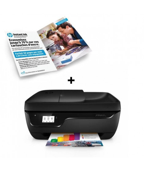 HP Imprimante Officejet 3833 + Forfait Instant Ink 50 pages