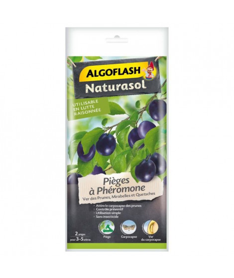 ALGOFLASH NATURASOL Pieges a phéromone Ver des prunes - 2 pieges