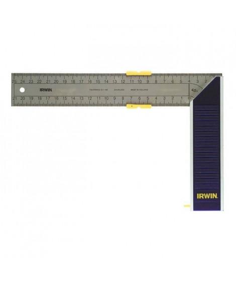 IRWIN Equerre de menuisier en aluminium et lame acier - 300 mm