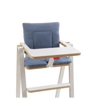 SUPAFLAT Coussin de chaise haute - blue velvet