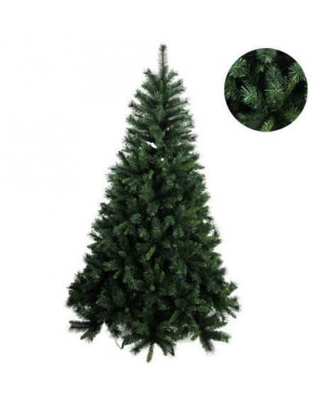 FORET ENCHANTEE Sapin de Noël Luxe Saint-Laurent 960 branches 195 cm vert