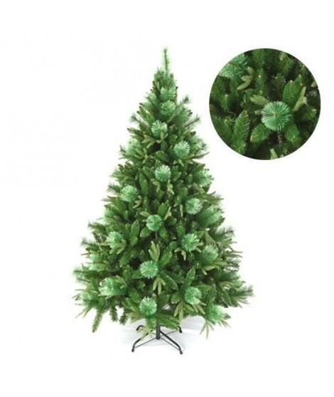 FORET ENCHANTEE Sapin de Noël Saint Johns 910 branches 195 cm vert