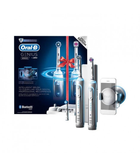 ORAL-B Lot de 2 brosses a dents électrique Genius 8900